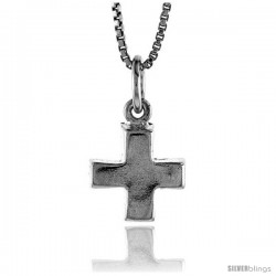 Sterling Silver Cross Pendant, 1/2 in -Style 4p80