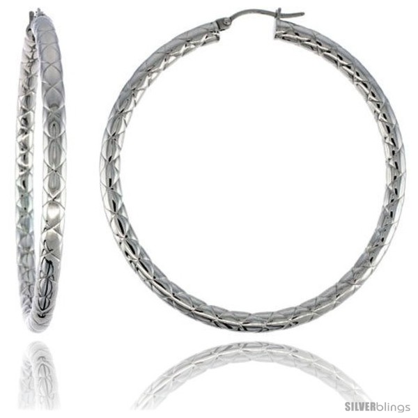 https://www.silverblings.com/2090-thickbox_default/surgical-steel-tube-hoop-earrings-2-1-4-in-round-4-mm-wide-zigzag-pattern-feather-weight.jpg