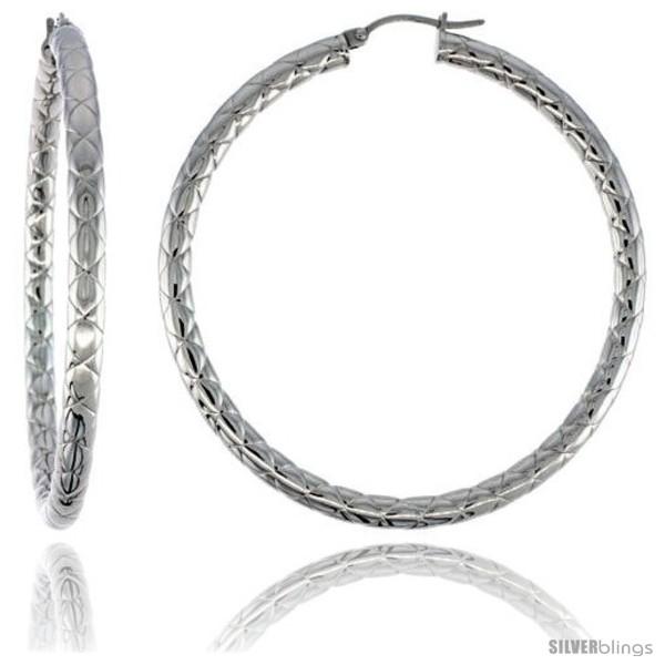 https://www.silverblings.com/2090-thickbox_default/surgical-steel-tube-hoop-earrings-2-1-4-in-round-4-mm-wide-zigzag-pattern-feather-weight.jpg