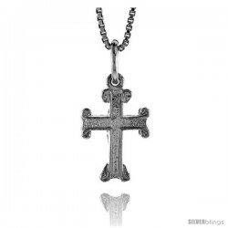 Sterling Silver Small Cross Pendant, 1/2 in