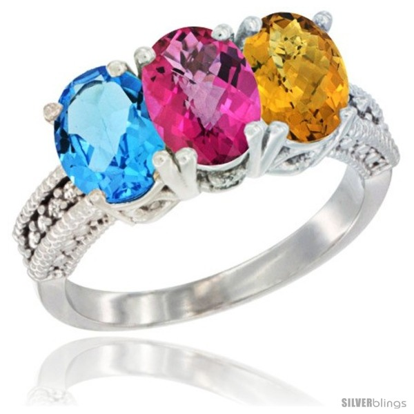 https://www.silverblings.com/20978-thickbox_default/14k-white-gold-natural-swiss-blue-topaz-pink-topaz-whisky-quartz-ring-3-stone-7x5-mm-oval-diamond-accent.jpg