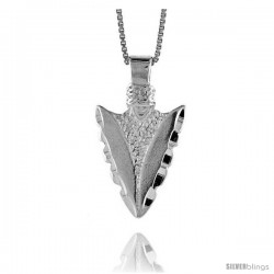 Sterling Silver Arrowhead Pendant, 1 in Tall