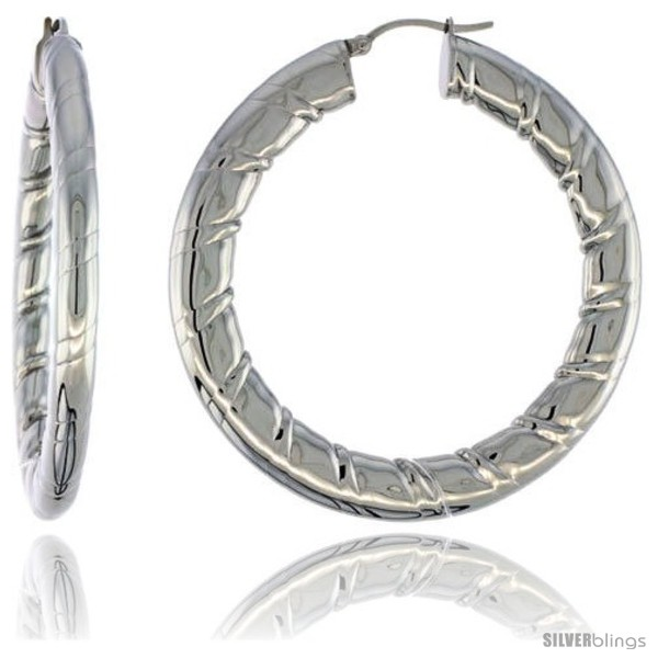 https://www.silverblings.com/2108-thickbox_default/surgical-steel-flat-tube-hoop-earrings-2-in-round-4-mm-wide-candy-stripe-pattern-feather-weight.jpg