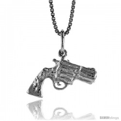 Sterling Silver Gun Pendant, 1/2 in tall