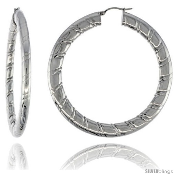 https://www.silverblings.com/2112-thickbox_default/surgical-steel-flat-tube-hoop-earrings-2-1-2-in-round-4-mm-wide-candy-stripe-pattern-feather-weight.jpg