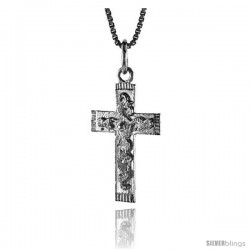 Sterling Silver Cross Pendant, 1 in -Style 4p9