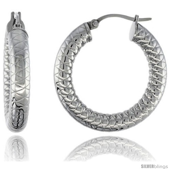 https://www.silverblings.com/2124-thickbox_default/surgical-steel-tube-hoop-earrings-1-4-in-round-5-mm-thick-tight-zigzag-pattern-feather-weight.jpg