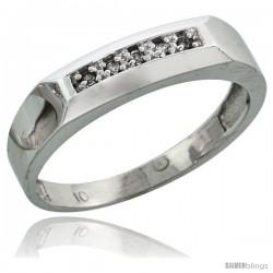 10k White Gold Ladies' Diamond Wedding Band, 3/16 in wide -Style 10w109lb
