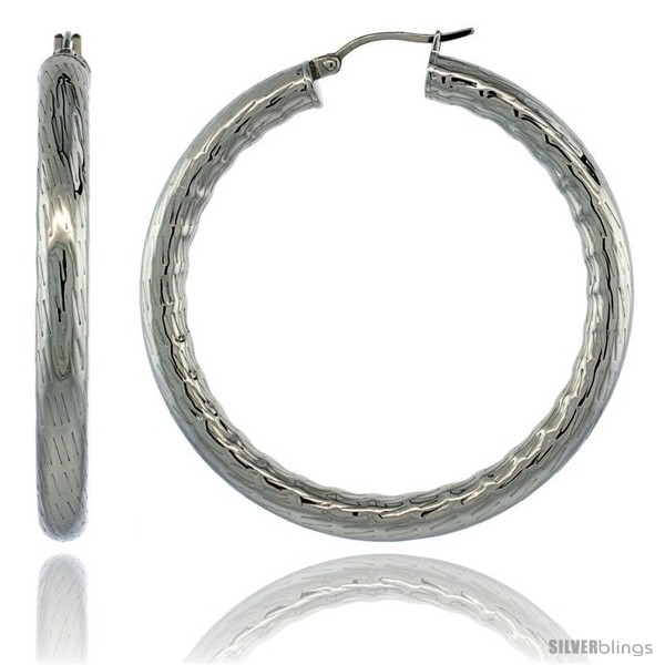 https://www.silverblings.com/2138-thickbox_default/surgical-steel-2-inch-hoop-earrings-bamboo-embossed-pattern-5-mm-fat-tube-feather-weigh.jpg