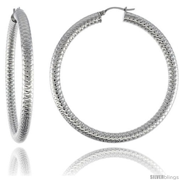 https://www.silverblings.com/2148-thickbox_default/surgical-steel-tube-hoop-earrings-2-3-8-in-round-5-mm-thick-tight-zigzag-pattern-feather-weight.jpg