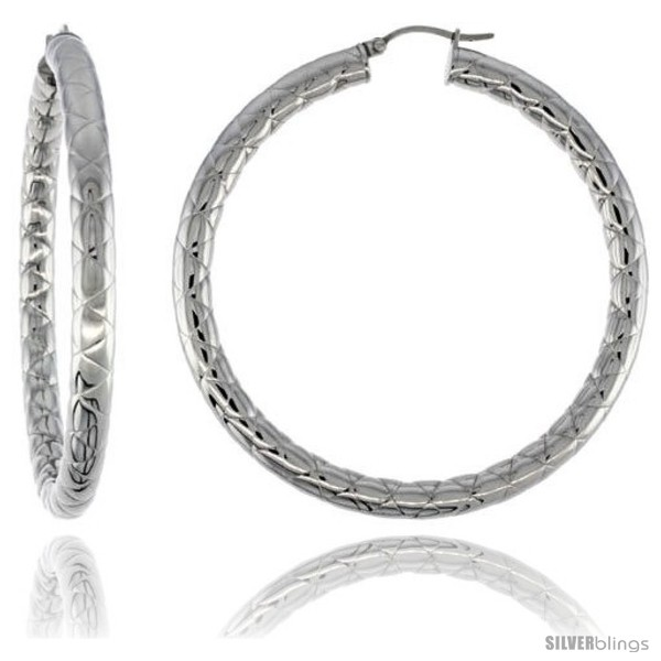 https://www.silverblings.com/2150-thickbox_default/surgical-steel-tube-hoop-earrings-2-1-2-in-round-4-mm-wide-zigzag-pattern-feather-weight.jpg
