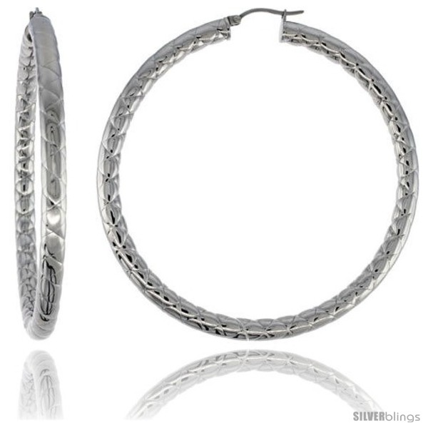 https://www.silverblings.com/2158-thickbox_default/surgical-steel-tube-hoop-earrings-3-in-round-4-mm-wide-zigzag-pattern-feather-weight.jpg