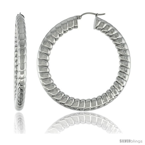 https://www.silverblings.com/2160-thickbox_default/surgical-steel-flat-tube-hoop-earrings-2-1-8-in-round-5-mm-thick-spiral-pattern-feather-weight.jpg