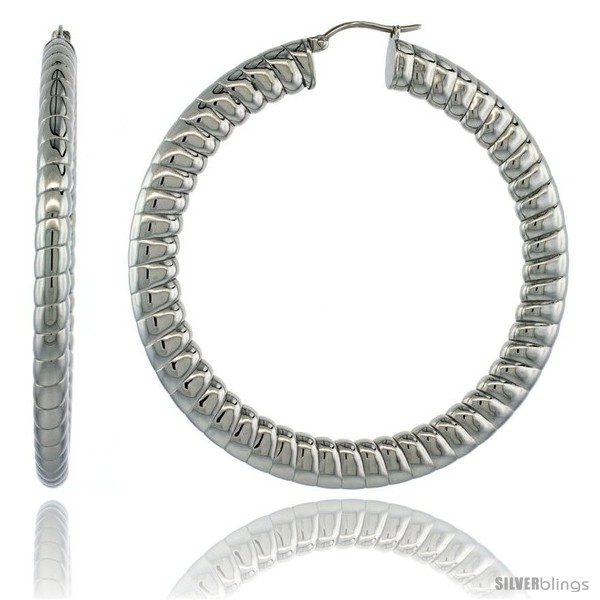 https://www.silverblings.com/2162-thickbox_default/surgical-steel-2-1-2-in-hoop-earrings-spiral-embossed-pattern-7-mm-fat-flat-tube-feather-weigh.jpg