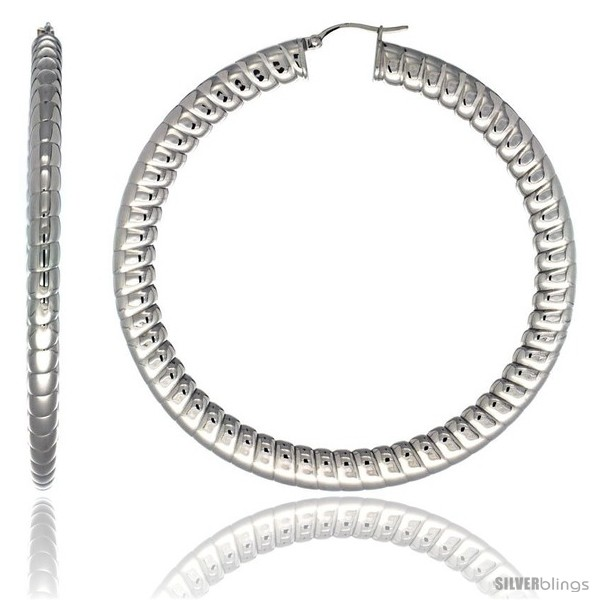 https://www.silverblings.com/2164-thickbox_default/surgical-steel-3-in-hoop-earrings-spiral-embossed-pattern-7-mm-fat-flat-tube-feather-weigh.jpg