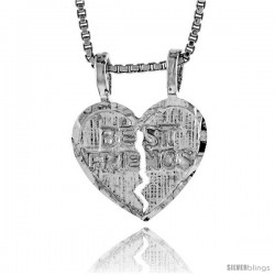 Sterling Silver Small Best Friend Pendant, 1/2 in Tall -Style 4p960