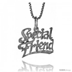 Sterling Silver Special Friend Talking Pendant, 1/2 in Tall
