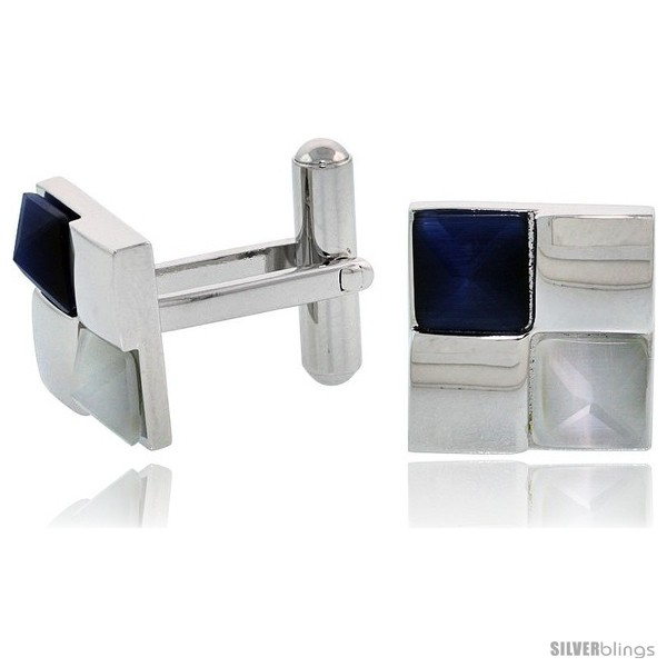 https://www.silverblings.com/2188-thickbox_default/stainless-steel-checkerboard-cufflinks-w-blue-white-pyramid-stones-1-2-in-14-mm.jpg