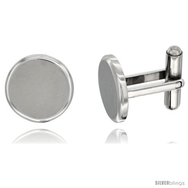 https://www.silverblings.com/2194-thickbox_default/stainless-steel-round-shape-cufflinks-matte-finish-beveled-edge-5-8-in.jpg