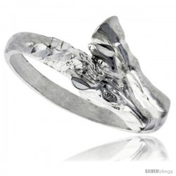 Sterling Silver Horse Ring Polished finish 3/8 in wide