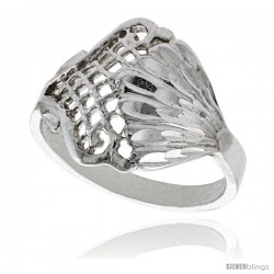 Sterling Silver Freeform Ring Polished finish 5/8 in wide -Style Ffr532