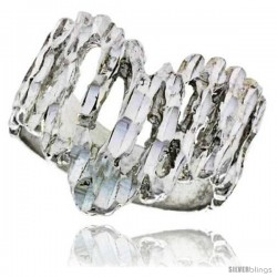 Sterling Silver Freeform Ring Polished finish 3/4 in wide -Style Ffr534