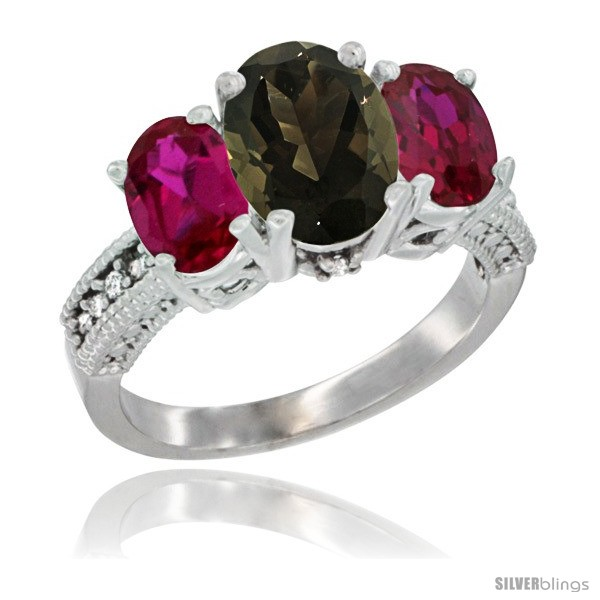 https://www.silverblings.com/2241-thickbox_default/10k-white-gold-ladies-natural-smoky-topaz-oval-3-stone-ring-ruby-sides-diamond-accent.jpg