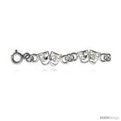 Sterling Silver Anklet w/ Comedy & Tragedy Drama Masks