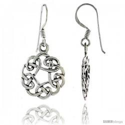 Sterling Silver Celtic Dangle Earrings, 1 5/16 in tall