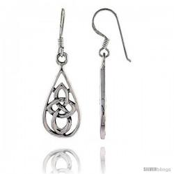 Sterling Silver Celtic Dangle Earrings, 1 1/2 tall