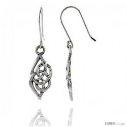 Sterling Silver Celtic Dangle Earrings, 1 7/16 in tall -Style Te932