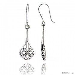 Sterling Silver Celtic Dangle Earrings, 1 1/2 in tall