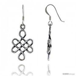 Sterling Silver CelticDangle Earrings, 1 9/16 in tall