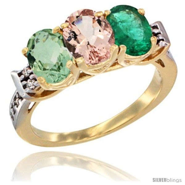 https://www.silverblings.com/2320-thickbox_default/10k-yellow-gold-natural-green-amethyst-morganite-emerald-ring-3-stone-oval-7x5-mm-diamond-accent.jpg