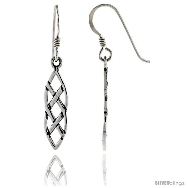 dfaffc4e1 Sterling Silver Interlacing Marquise-shaped Braids Celtic Dangle ...