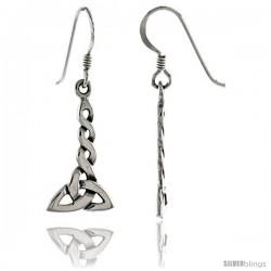 Sterling Silver Trinity Celtic Dangle Earrings, 1 7/16 in tall