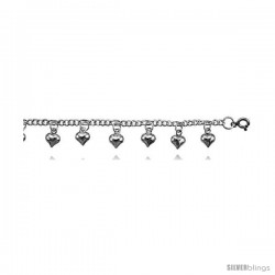 Sterling Silver Anklet w/ Chime Ball Charms
