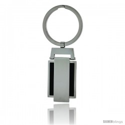 Stainless Steel Engravable Keychain Key Tag Key Fob Key Ring, 3 in (75 mm) tall