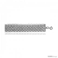 Sterling Silver Charm Bracelet w/ Teeny Flowers