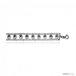 Sterling Silver Charm Bracelet w/ Beads