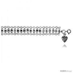 Sterling Silver Charm Bracelet w/ Teeny Hearts