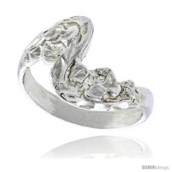 Sterling Silver Freeform Wave Ring Polished finish 1/2 in wide -Style Ffr555
