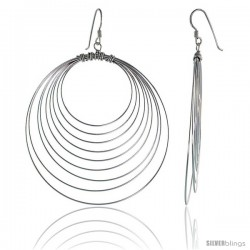 Sterling Silver Wire Circles Earrings