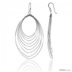 Sterling Silver Oval Wire Earrings