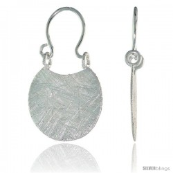 Sterling Silver Purse Earrings Crystallized Finish, 9/16 in