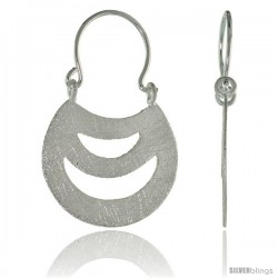 Sterling Silver Purse Earrings Crystallized Finish, 3/4 in