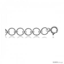 Sterling Silver Charm Plain Charm Bracelet