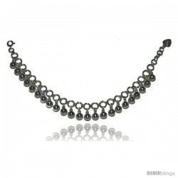 Sterling Silver Charm Bracelet w/ Chime Balls
