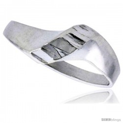 Sterling Silver Freeform Ring Polished finish 5/16 in wide