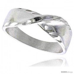 Sterling Silver Freeform Ring Polished finish 1/4 in wide -Style Ffr561